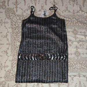 Forever 21 Grey Sequin/Beaded Mini Dress Size S